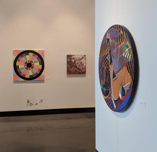 Paintings by Jason Wilson seen at Paseo Arts District, Oklahoma City - Optical
