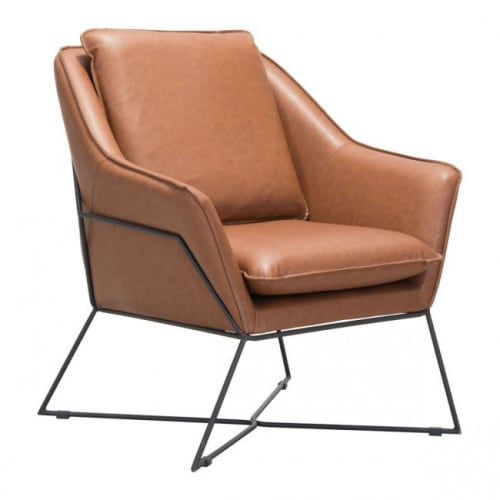 Chairs by ZUO seen at Private Residence, Davenport - Lincoln Lounge Chair Saddle