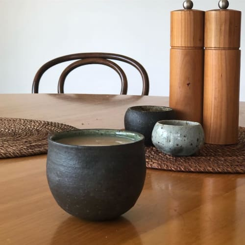 Cups by Sundborn Ceramics seen at Private Residence, Brunswick - Black Cup