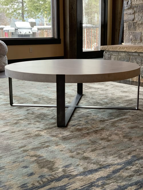 Concrete Coffee Table - Round | Tables by Woven 3 Design