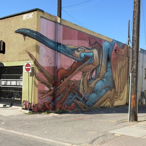 Street Murals by Dominic Lessard seen at Kelowna, Kelowna - Mural