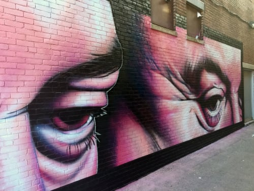 Street Murals by CP1 seen at Salem, Salem - Salem Alley