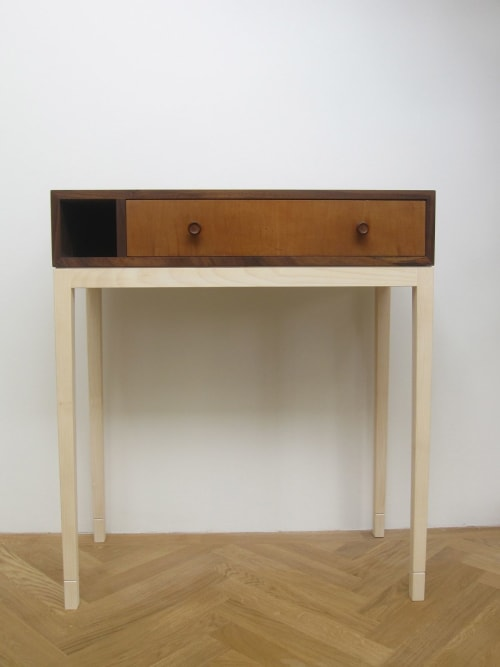 Tables by John Wilson Design seen at Private Residence, Edinburgh, Edinburgh - Console Table with Vintage Drawer