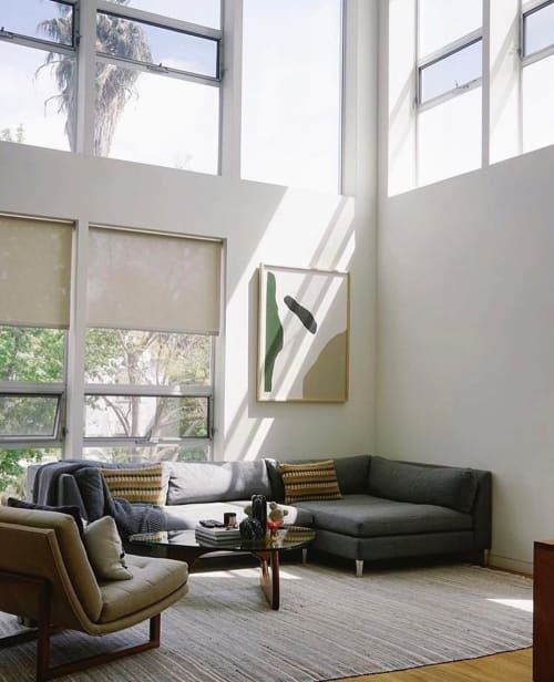 Paintings by Flora and Form seen at Private Residence, Los Angeles - Abstract Paint