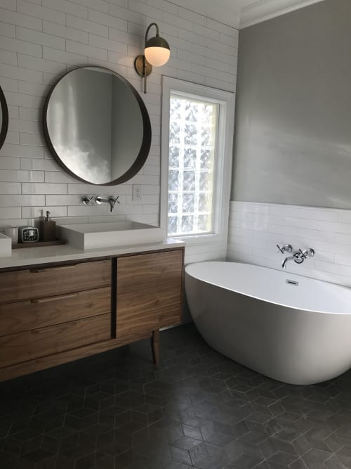 Furniture by Draftwood Design seen at Private Residence, Phoenix - Bathroom Vanity Cabinet