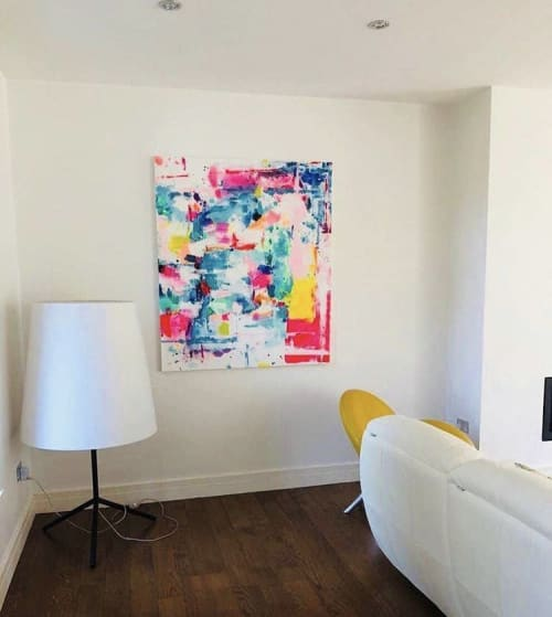 """Paintings by Tereza Sterbova seen at Private Residence, Cork - """"Something happy and cheerful"""" Painting"""