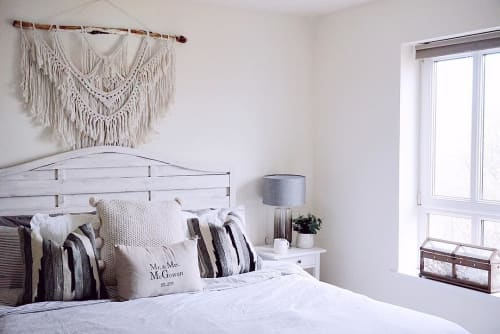 Macrame Wall Hanging by Juniper Weaves seen at Private Residence - Custom made macrame