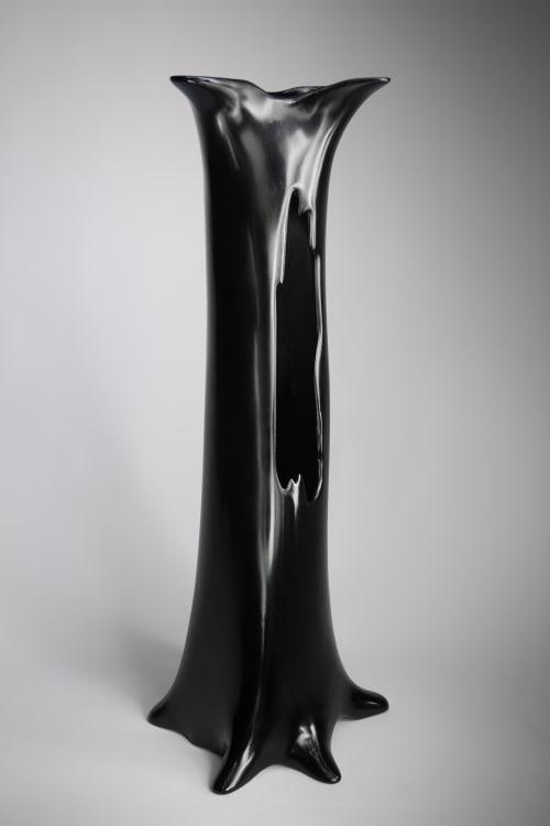 Sculptures by Ashima Collective seen at Bozeman, MT, Bozeman - Modern Oak (entry table base)