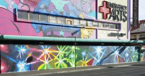 Murals by Jerry Misko seen at Emergency Arts, Las Vegas - Wall Mural