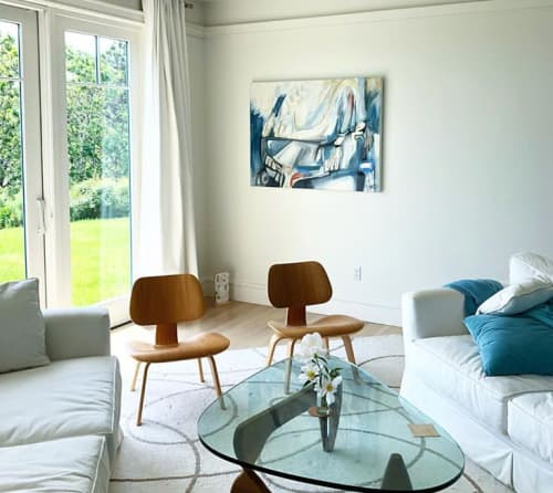 """Paintings by Hilary Tait Norod seen at Private Residence, Truro - """"Blue Landing"""""""