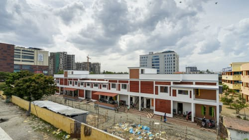 Architecture by Triple O Studio seen at அரசு மேல்நிலைப்பள்ளி, Chennai - Government School