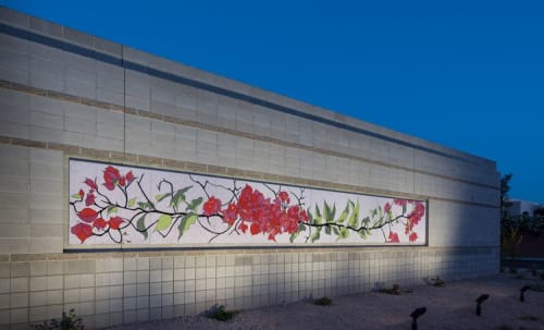 Bougainvillea   Murals by Mary Shindell