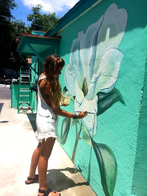 Murals by Charly Malpass Art seen at Huriyali, Charleston - Magnolia
