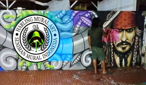 Murals by Muralist Indonesia seen at Harling Mural Art - Harling Mural Art - Seniman Mural Indonesia
