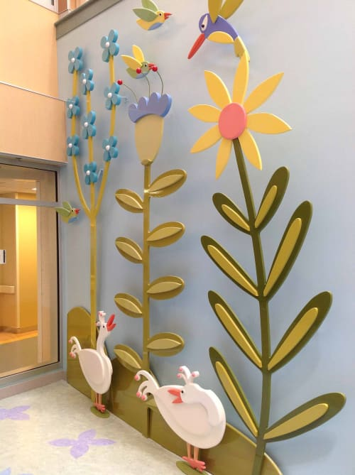 Art & Wall Decor by Gannon Ogilvie seen at Monroe Carell Jr. Children's Hospital at Vanderbilt, Nashville - Waterfall Pond