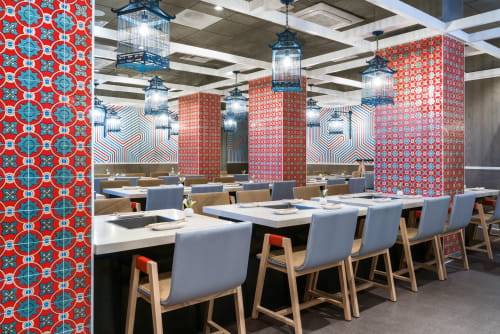 Tiles by Design and Direct Source seen at Haidilao Hot Pot, Irvine - Colores Series: Metrico