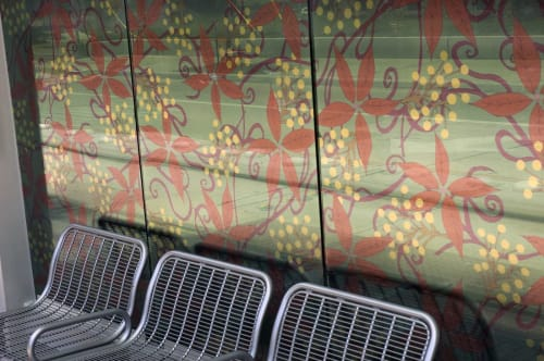 Public Mosaics by Leticia Huerta seen at Houston, Houston - Houston Metro Light Rail Project
