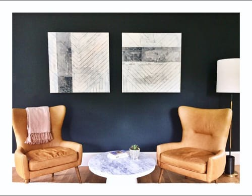 Paintings by Erin Clark's Art seen at Private Residence, Manchester-by-the-Sea - Diptych Painting