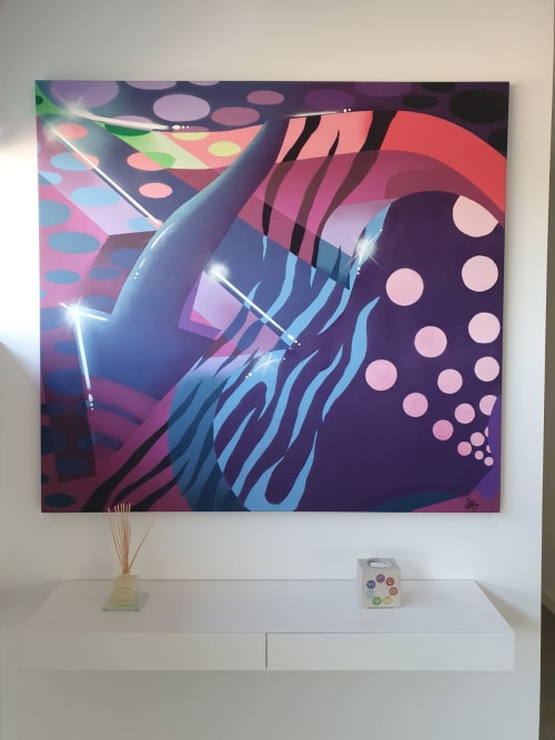 """Paintings by Savage Joys seen at Private Residence, Torrent - """"A"""""""
