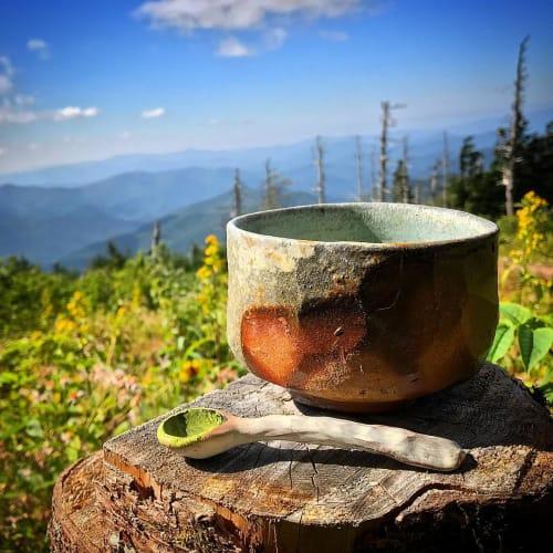 Utensils by Tara Underwood Pottery seen at Mount Mitchell - Pinched Spoon