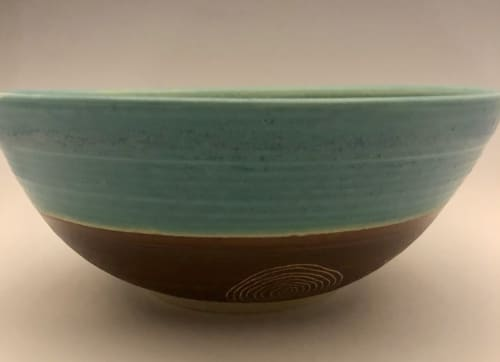 Tableware by Urn Song Pottery seen at Northern Sun Gallery & Gifts, Mahone Bay - Tree Ring Bowl