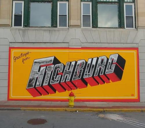 Street Murals by JALLEN Art and Design seen at Fitchburg, Fitchburg - Fitchburg 2017