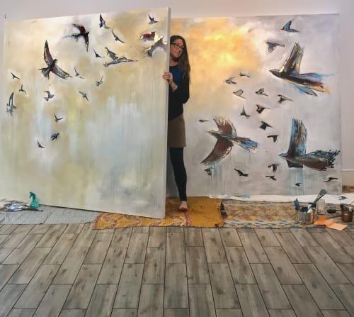 Paintings by Nancy Hilliard Joyce seen at Hilton Street, Columbia - Take Flight