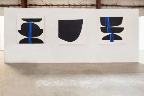 Paintings by Stella Alesi at 1300 E 5th St, Austin - simplicity series