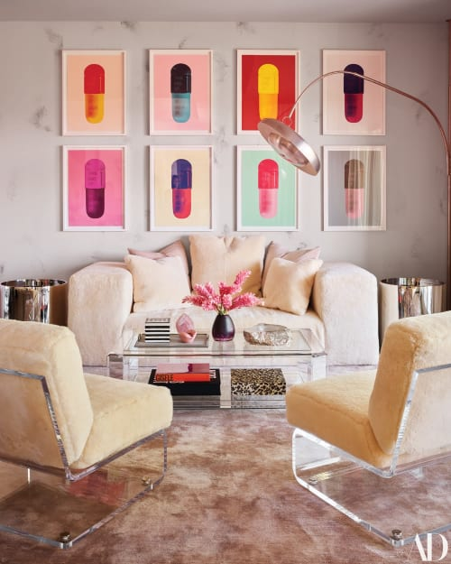 Chairs by voila! Creative Studio seen at Private Residence, Hidden Hills - Lucite Chairs