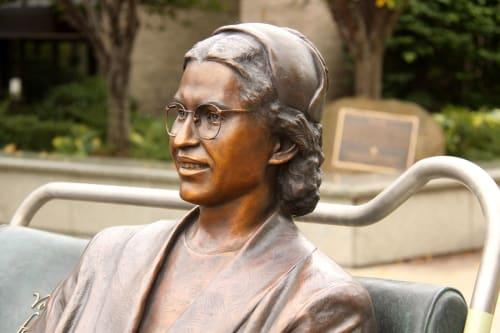 Public Sculptures by Thomas Jay Warren, Sculptor seen at Veterans Courthouse, Newark - Rosa Parks