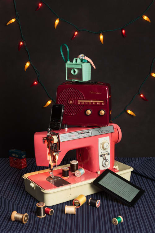 Photography by Jeanette May seen at New York, New York - Tech Vanitas: Sewing Machine