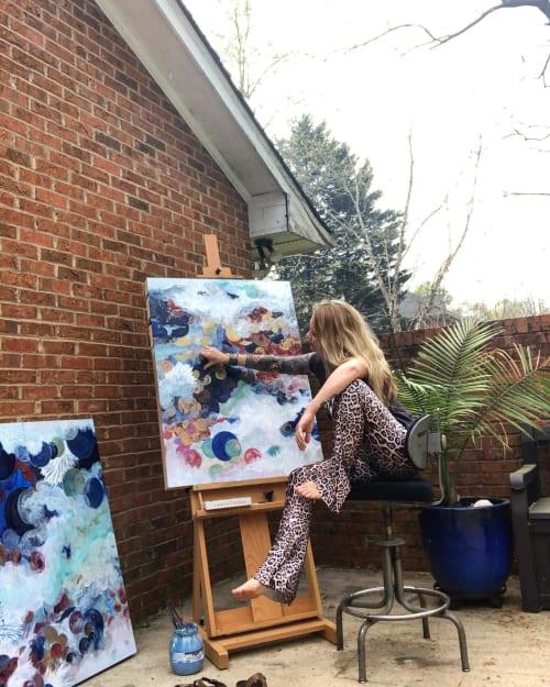 Paintings by Amanda M Moody seen at Creator's Studio, Cornelius - other side
