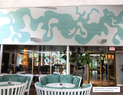 Murals by Gustavo Oviedo seen at The Standard Spa, Miami Beach, Miami Beach - Sharing Time