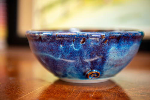 Tableware by Swindell Pottery seen at Private Residence - Blue Galaxy Bowl