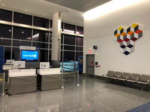 Public Art by Abedin Fine Art seen at George Bush Intercontinental Airport, Houston - Perception 94-96