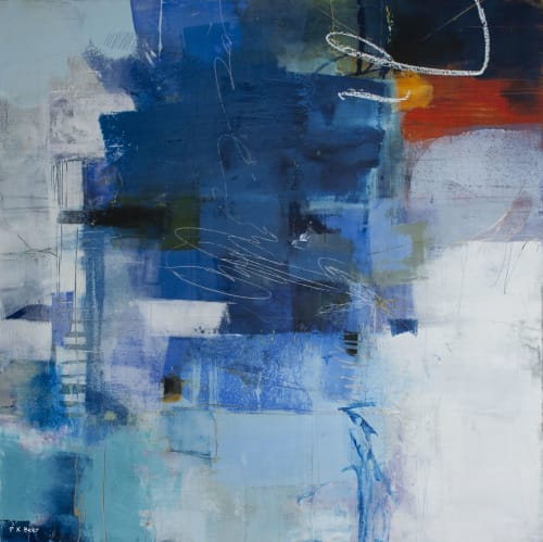 Paintings by Pamela K Beer Contemporary Fine Art seen at Creator's Studio, Sammamish - Singing The Blues
