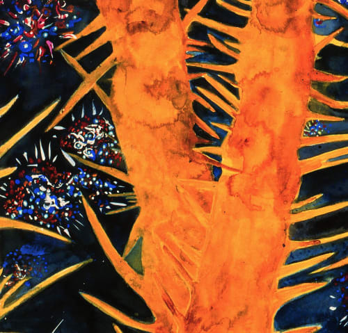 Paintings by ISA CATTO STUDIO - Fireworks in Espinazo