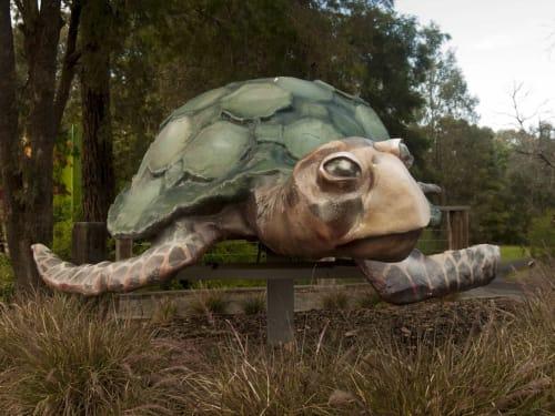 Public Sculptures by Sanctum Studio seen at Bulleen Art & Garden, Bulleen - Rose the Turtle