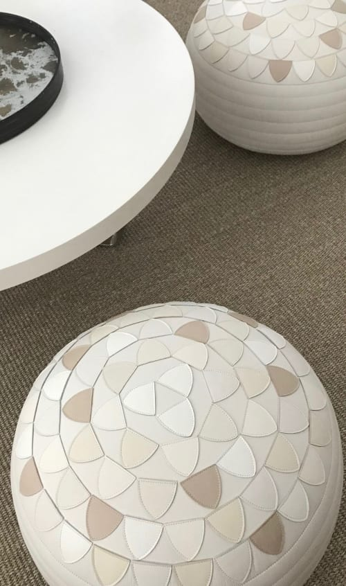 Benches & Ottomans by Moses Nadel - Lotus Pouf