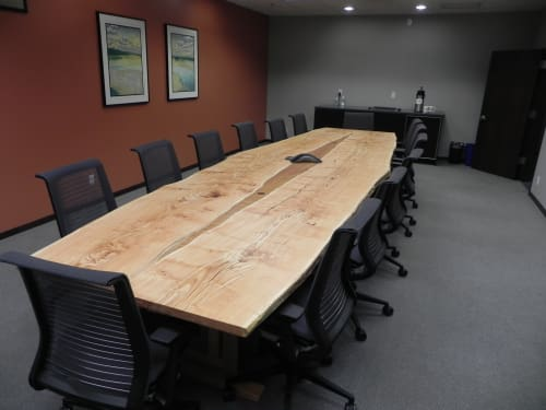 Tables by The Wood Cycle of Wisconsin, Inc. at Clinton, Clinton - Honey Locust Conference Table