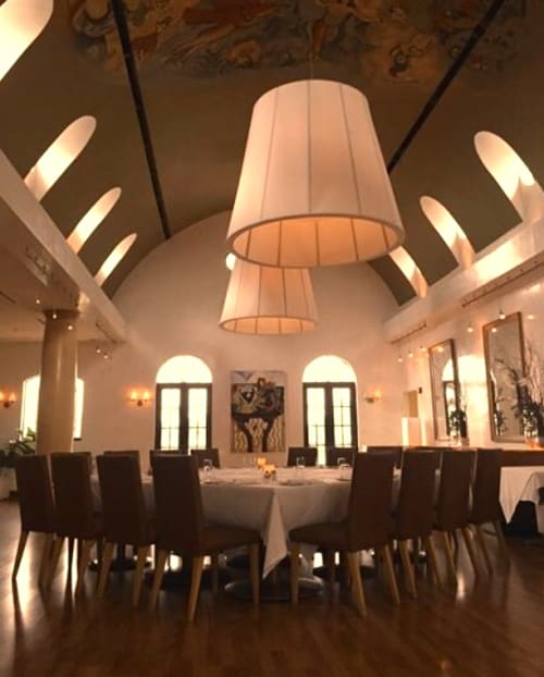 Chandeliers by CP Lighting at Cafe Lurcat, Naples - Cafe Lurcat Custom Chandeliers