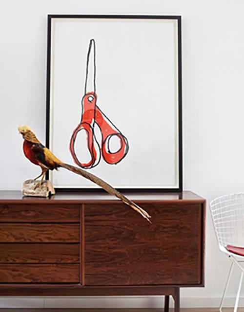 Art & Wall Decor by Alanna Cavanagh seen at Bev Hisey's home, Toronto - Big Scissors