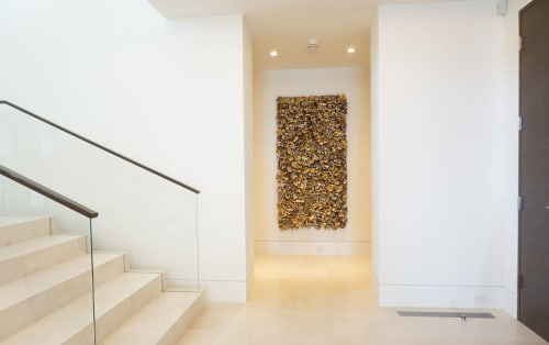 Murals by Ron Dier Design seen at Private Residence, Orange - Wall Chip Sculpture