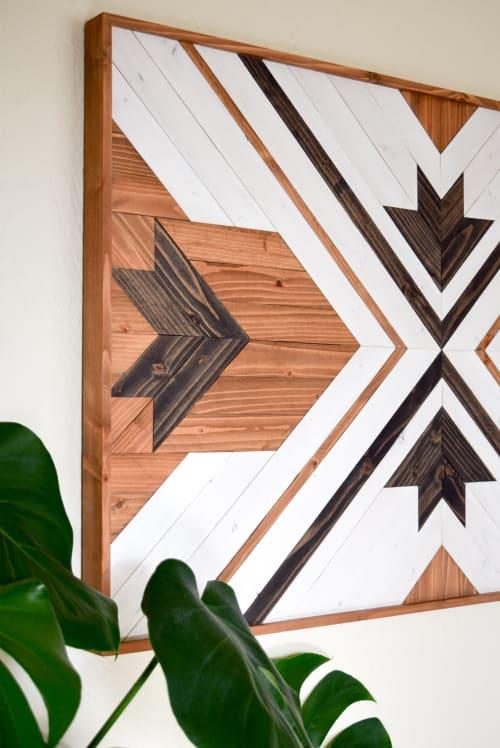 Wall Hangings by Roaming Roots seen at Private Residence, Spokane - Akāliko Wood Artwork