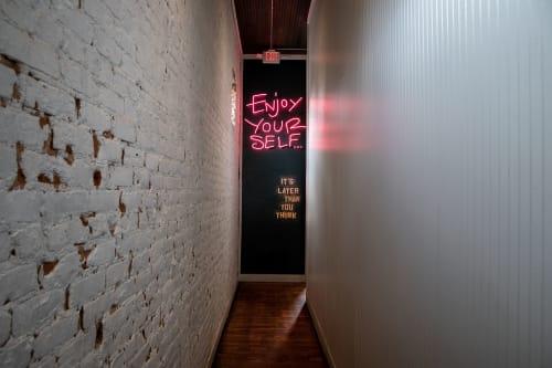 Murals by Sydney Compeau | Blue Heron Studio seen at Banshee, Atlanta - Enjoy Yourself Neon Mural