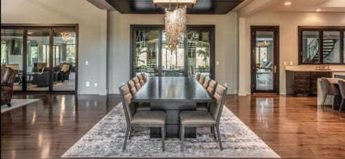 Tables by Lane 17 Design Co. seen at Private Residence, Hinckley - Ebonized Maple Dining & Bedside Table