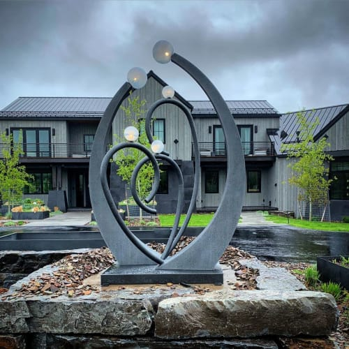 Public Sculptures by Zac Knudson seen at Private Residence - Custom Sculpture
