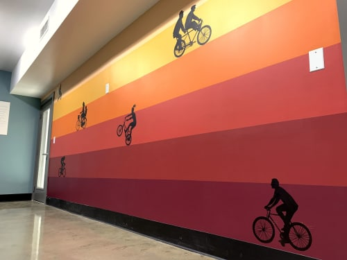 Murals by Sapira Design seen at AMLI South Shore, Austin - Ride Together