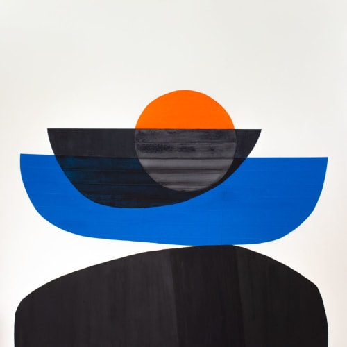 Paintings by Stella Alesi seen at Prizer Gallery, Austin - Paintings form the Journeying series