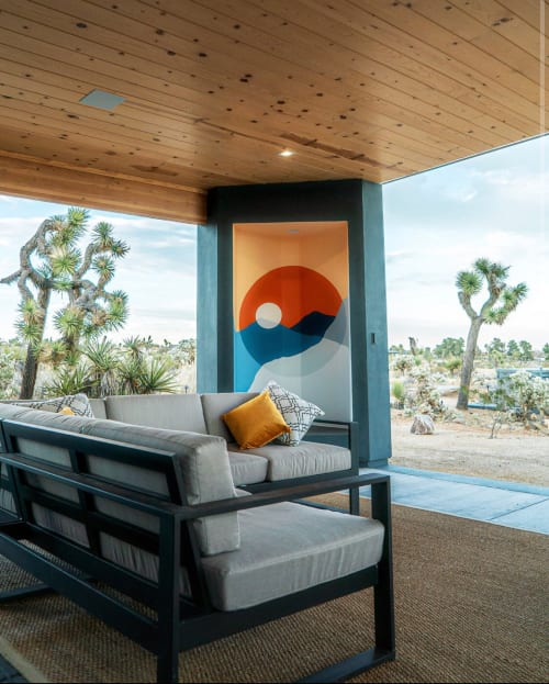 Murals by Ana DiGiallonardo seen at Private Residence, Yucca Valley - Desert Eclipse at The Gaslight Airbnb